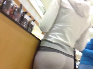Nice ass white yoga pants