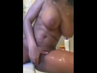 Thot playing with herself for followers