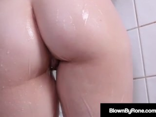 Samantha Rones Eyes Water As She Dildo Plugs Pussy