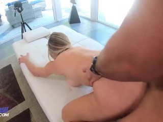 18 YEAR OLD BLONDE WITH BIG BREASTS Has A Naughty Audition for DadSmash.com