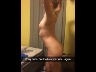 Redhead wife continues to fuck friend – cheat