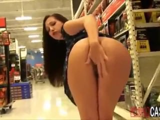 Girl showing in shop