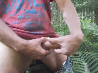 Edging with coconut oil outdoor at the small creek #4