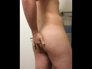 Horny college 19 year old touches himself