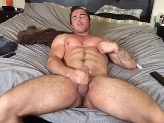 Young STUD jerks off for YOU.