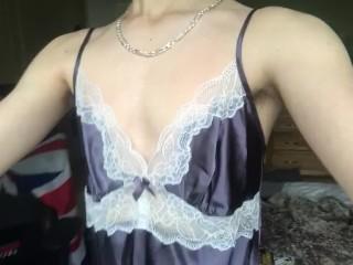 Super Young Teen Tries Mums Night Dress