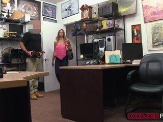 Adorable slut fuck in the pawn shop
