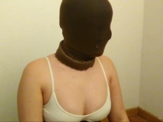 encasement lady have a fun time at home