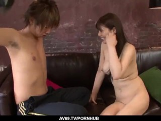 Karen Natsuhara goes full mode in a Japanese dick