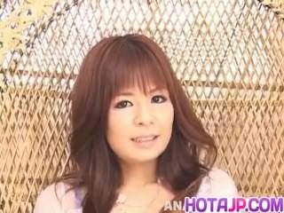 Rin Yuuki enjoys man with large dick to compl