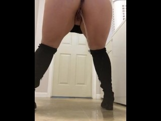 Pissing on the floor