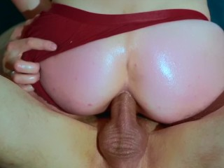 HOT MOM RIDING ANAL & OIL | CUMSHOT, CREAMPIE AND REAL ORGASM