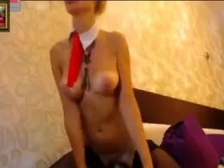 Russian Anal Queen Katya is fucking her ass hard