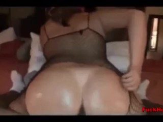 Big-Assed White Teen Whore Rides Internet Stranger Black Cock