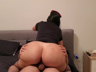 Sexy Young Nurse destroys dick in December with her Huge Ass